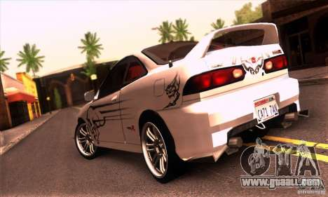 Honda Integra Tunable for GTA San Andreas inner view