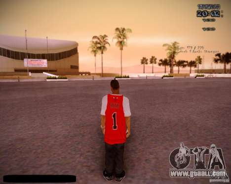 Skin Chicago Bulls for GTA San Andreas third screenshot