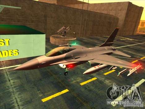 F-16C Fighting Falcon for GTA San Andreas left view