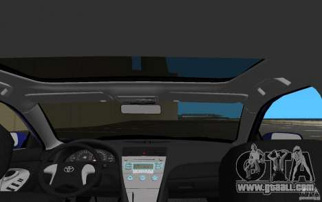 Toyota Camry 2007 for GTA Vice City upper view