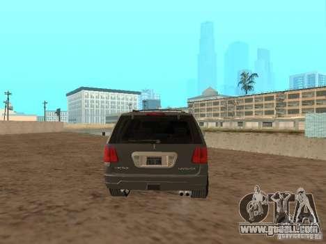 Lincoln Navigator 2004 for GTA San Andreas back left view
