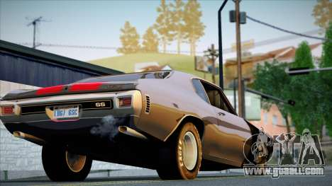 Chevrolet Chevelle SS 454 1970 for GTA San Andreas back view