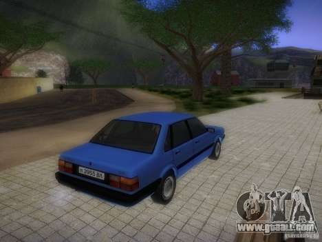 Audi 80 1987 V1.0 for GTA San Andreas inner view