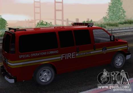Chevrolet Express Special Operations Command for GTA San Andreas left view