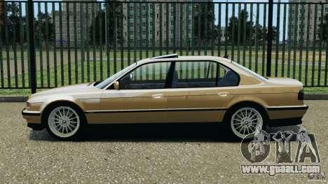 BMW 750iL E38 1998 for GTA 4 left view