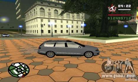 Volkswagen Passat B6 Variant for GTA San Andreas back left view