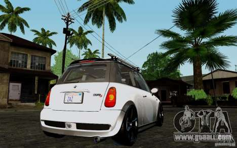 Mini Cooper S Tuned for GTA San Andreas right view