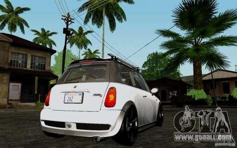Mini Cooper S Tuned for GTA San Andreas right view