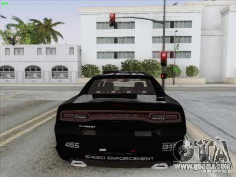 Dodge Charger 2012 Police for GTA San Andreas bottom view