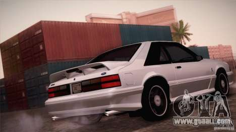 Ford Mustang SVT Cobra 1993 for GTA San Andreas back view