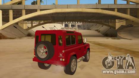Land Rover Defender for GTA San Andreas right view