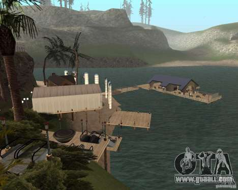 Villa in the fishing lagoon for GTA San Andreas forth screenshot