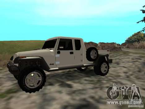 Jeep Gladiator for GTA San Andreas left view