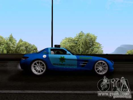 Mercedes-Benz SLS AMG Blue SCPD for GTA San Andreas back view