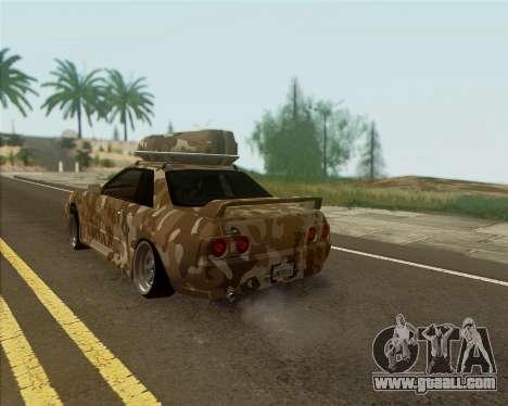 Nissan Skyline R33 Army for GTA San Andreas left view