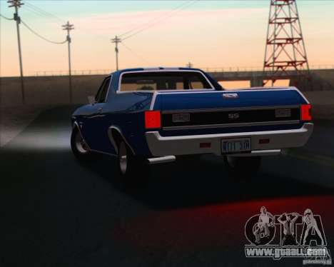 Chevrolet EL Camino SS 70 for GTA San Andreas side view