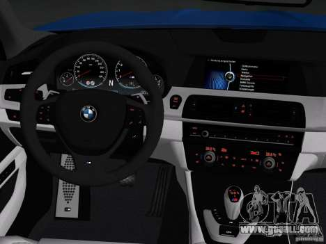 BMW M5 F10 2012 for GTA Vice City engine