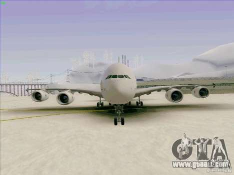 Airbus A380-800 for GTA San Andreas side view