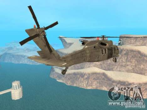 The UH-60 from COD MW3 for GTA San Andreas left view