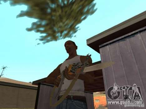 AK 47 with a bayonet-knife HD for GTA San Andreas second screenshot