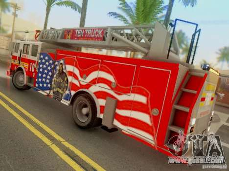 Seagrave FDNY Ladder 10 for GTA San Andreas left view