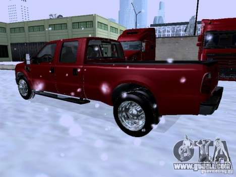 Ford F-350 Super Duty for GTA San Andreas back left view