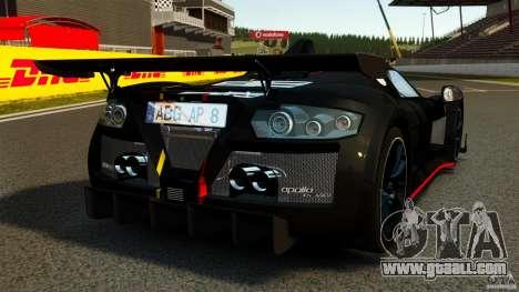 Gumpert Apollo Enraged 2012 for GTA 4 back left view