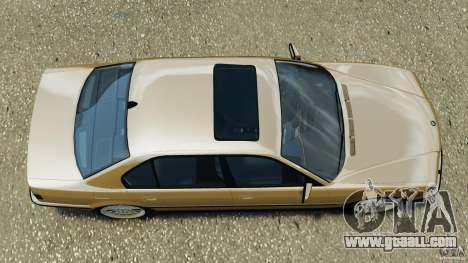 BMW 750iL E38 1998 for GTA 4 right view