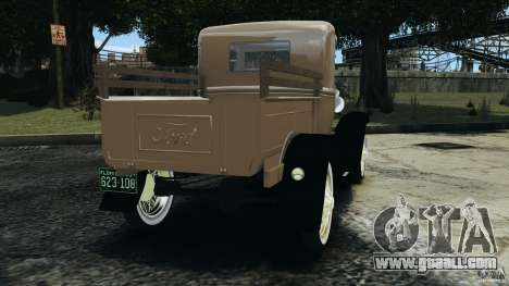 Ford Model A Pickup 1930 for GTA 4 back left view