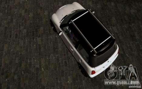 Mini Cooper S Tuned for GTA San Andreas inner view