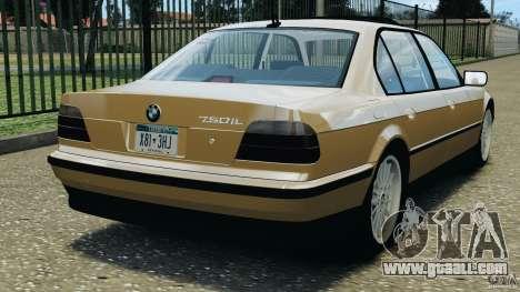 BMW 750iL E38 1998 for GTA 4 back left view