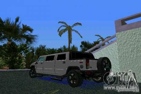 Hummer H2 SUT Limousine for GTA Vice City left view