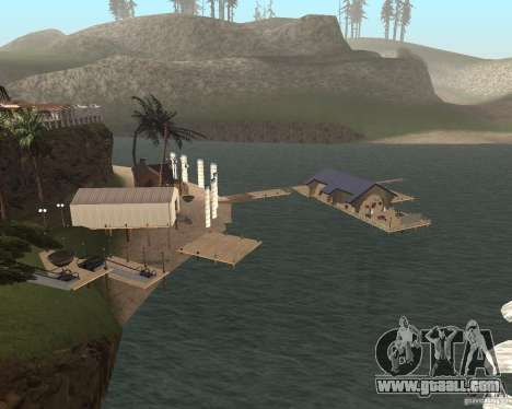 Villa in the fishing lagoon for GTA San Andreas second screenshot