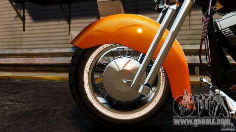Harley Davidson Fat Boy Lo Vintage for GTA 4 inner view