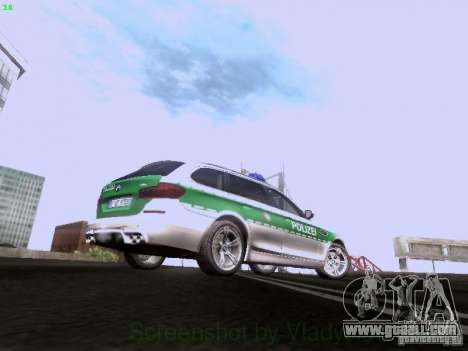 BMW M5 Touring Polizei for GTA San Andreas back view