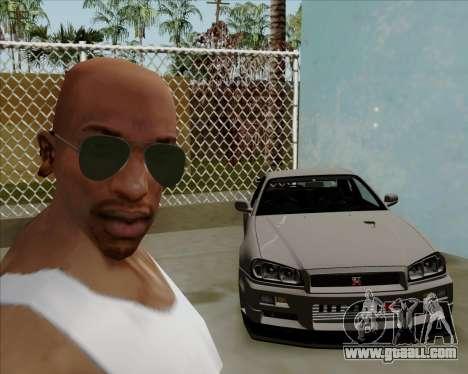 Green sunglasses Aviators for GTA San Andreas forth screenshot