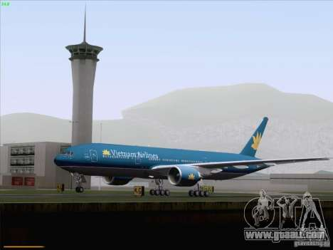 Boeing 777-2Q8ER Vietnam Airlines for GTA San Andreas upper view