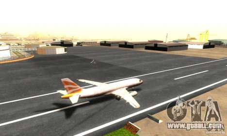Airbus A319 British Airways Olympic Dove for GTA San Andreas back left view