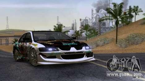 Mitsubishi Lancer Evolution 8 for GTA San Andreas left view