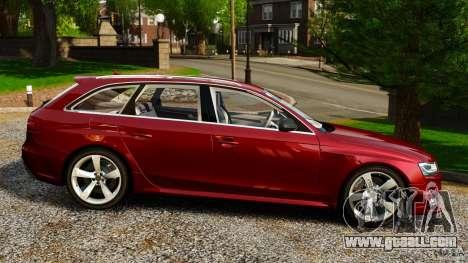 Audi RS4 Avant 2013 for GTA 4 left view