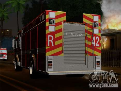 Pierce Contender LAFD Rescue 42 for GTA San Andreas side view