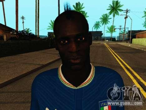 Mario Balotelli v4 for GTA San Andreas sixth screenshot