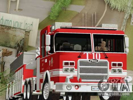 Pierce Arrow XT LAFD Tiller Ladder Truck 10 for GTA San Andreas left view