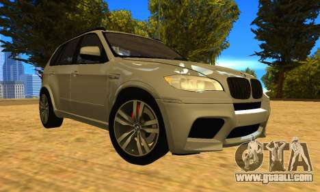 BMW X5M 2013 v2.0 for GTA San Andreas back view