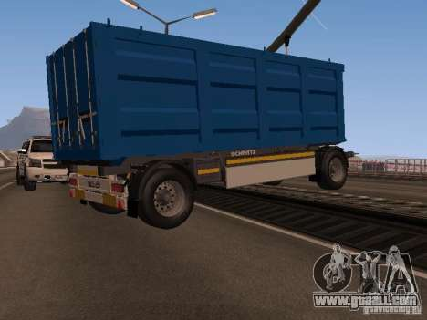 Trailer for MAN TGA 28430 PALIFT for GTA San Andreas right view
