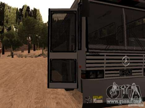 Mercedes Benz SWAT Bus for GTA San Andreas back view