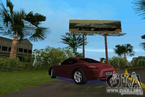 Porsche Cayman for GTA Vice City left view