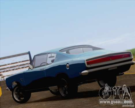 Plymouth Barracuda 1968 for GTA San Andreas side view