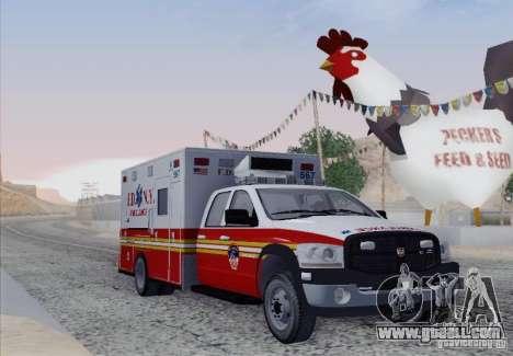 Dodge Ram Ambulance for GTA San Andreas left view