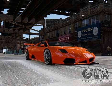 Lamborghini Murcielago RSV FIA GT1 for GTA 4 back left view
